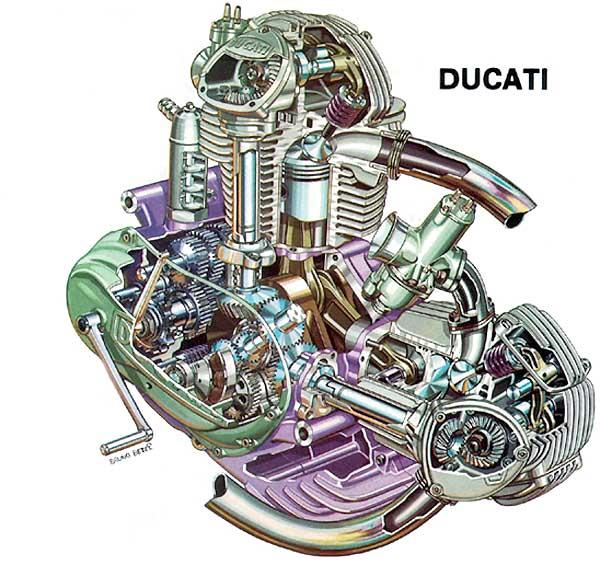 750 roundcase engine cutaway